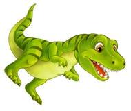 Dinosaure heureux et drôle de bande dessinée - tyrannosaure illustration stock