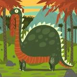Dinosaure mangeant des feuilles illustration stock
