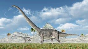 Dinosaure Omeisaurus Photos stock
