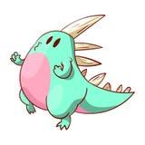 Dinosaure ou dragon mignon Images libres de droits