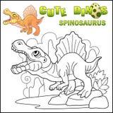 Dinosaure prédateur préhistorique Spinosaurus, illustration drôle illustration libre de droits