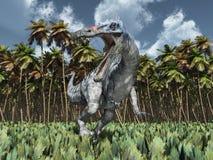 Dinosaure Suchomimus dans la jungle Images libres de droits