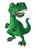 Dinosaure vert de bande dessinée illustration stock