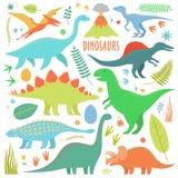 Dinosaures arial Illustration de Vecteur