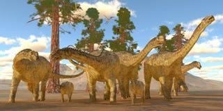 Dinosaures d'Uberabatitan Photos libres de droits