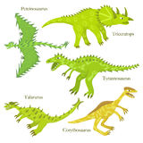 Dinosaures de bande dessinée Photo libre de droits