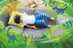 Dinosaures de réalité virtuelle illustration de vecteur