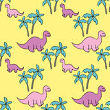 Dinosaures et palmiers Image stock