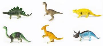 Dinosauri del giocattolo Immagini Stock