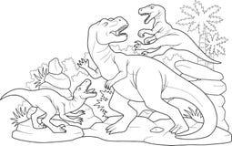 Dinosauri di battaglia Immagine Stock
