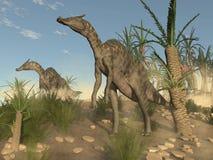 Dinosauri di Saurolophus - 3D rendono Fotografie Stock Libere da Diritti