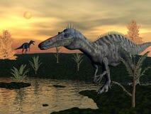 Dinosauri di Suchomimus - 3D rendono illustrazione vettoriale