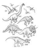 Dinosauri grafici realistici Immagini Stock