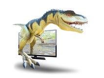 Dinosauri sulla natura all'aperto Immagini Stock Libere da Diritti