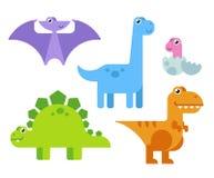 Dinosauri svegli del fumetto Fotografia Stock Libera da Diritti