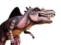 Dinosaurie på vit bakgrund arkivfoto