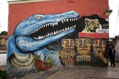 Dinosaurie T-rex dei graffiti Immagini Stock Libere da Diritti