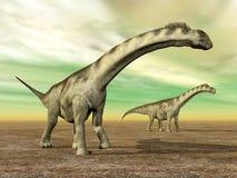 DinosaurieCamarasaurus Royaltyfri Bild