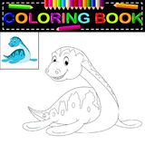 Dinosauriefärgläggningbok stock illustrationer