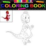 Dinosauriefärgläggningbok vektor illustrationer