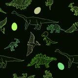 Dinosauriemodell Vektor Illustrationer