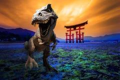 Dinosauriemodell i Japan royaltyfria foton