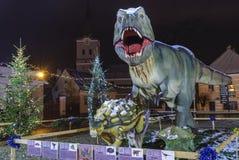Dinosaurien parkerar Rasnov, Rumänien Royaltyfria Bilder