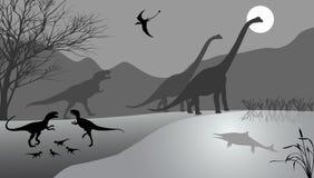 Dinosaurier Arkivfoto