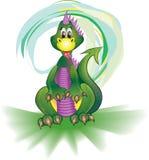 Dinosaurier auf Grün lizenzfreie stockfotografie