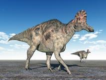 Dinosaurier Corythosaurus stock abbildung