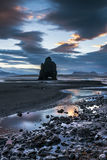 Dinosaurier-Felsen-Strand in Island Stockfotografie