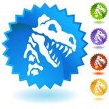 Dinosaurier-Fossil-Knochen-Knopf-Satz Lizenzfreie Stockfotos