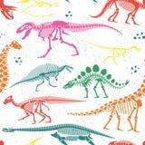 Dinosaurier-Fossilien, Eier, entbeint Skelette vektor abbildung