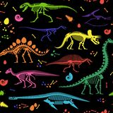 Dinosaurier-Fossilien, Eier, entbeint Skelette Stockfoto