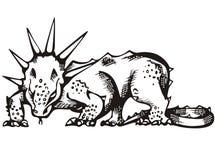 Dinosaurier mit der gehörnten Mähne Lizenzfreie Stockfotos