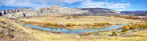 Dinosaurier-Nationaldenkmalherbstlandschaft, Utah, USA Stockfotografie