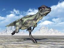Dinosaurier Pachycephalosaurus stock abbildung