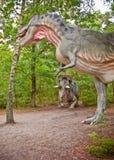 Dinosaurier parkerar i Leba Polen royaltyfri bild