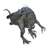 Dinosaurier Suchomimus der Wiedergabe-3D auf Weiß Lizenzfreie Stockfotografie