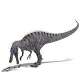 Dinosaurier Suchominus. Wiedergabe 3D mit Ausschnitt Stockfoto