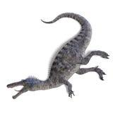 Dinosaurier Suchominus. Wiedergabe 3D mit Ausschnitt Stockbild