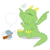 Dinosaurier und Briefträgerratte Stockbild