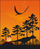 Dinosaurier - Vektor stock abbildung