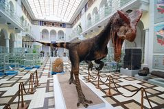 Dinosaurier in Warschau stockfoto