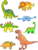 Dinosaurieransammlung lizenzfreie abbildung