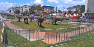 Dinosaurierausstellung   Singapur stockfotos