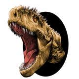 Dinosaurierhauptskizzenvektor Stockfoto