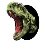 Dinosaurierhauptskizzenvektor Lizenzfreies Stockfoto