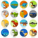 Dinosaurierikonen eingestellt Stockfotos