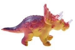 Dinosaurierspielzeug auf Weiß stockfotografie